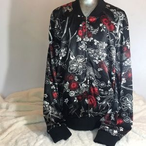 """BAY STUDIO"" Bomber Style Patterned Ladies Jacket."